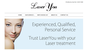 Laser You Website Design