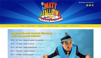 Matt Falloon Website Design