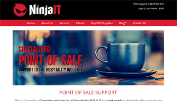 Ninja IT Website Design
