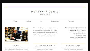 mervynlewis website design