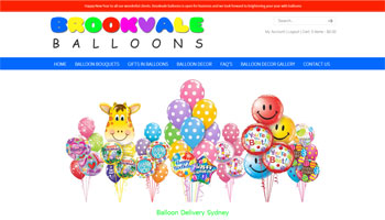 Brookvale Balloons Website Design