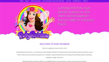 Ruby Rainbow Website Design