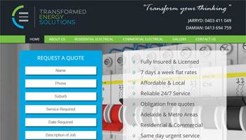 Transformed Energy Solutions Website Design